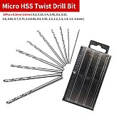 21pcs HSS Twist Drill Bits Mini Micro Drill Bit Set Aluminum Hand Drill With Keyless Chuck Hand Drill Manual Woodworking