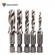 WALFRONT 1/4  Hex Shank Drill Bit HSS Metric Screw Thread Tap Taper & Drill Bits Metric Composite Tap Drills M3 M4 M5 M6 M8 M10