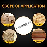 1pcs HSS Twist Drill Bits Wood Drill Tools Kit Set Square Auger Mortising Chisel Drill Set Square Hole Extended Saw 6.0mm~20mm