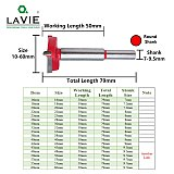 LAVIE 1pc 15mm-60mm Forstner Drill Bit Woodworking Hole Saw Cutter Hinge Boring Bits Round Shank Tungsten Carbide Opener DB03060