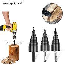32/42/45MM Firewood Machine Drill Wood Cone Punch Drive Drill Bit Wood Log Splitter Auger Splitting Screw Breaker Tool