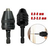 0.6-8 Mm / 0.3-3.6 Mm Adapter Hex Shank Screwdriver Tool Drill Chuck 1/4 Inch Made Of High Quality Material