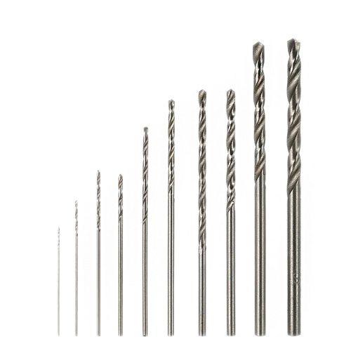 10Pcs/1 Set Mini High Speed White Steel Twist Drill Bit Set for Dremel Rotary Tool HSS