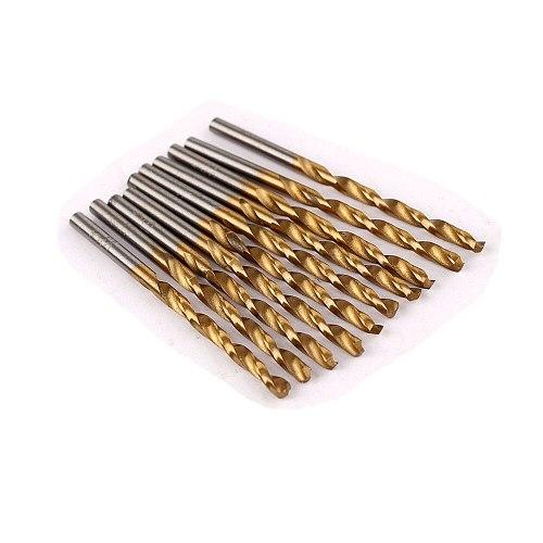 50Pcs 1/1.5/2/2.5/3mm Titanium Coated HSS Drill Bit Set Tool