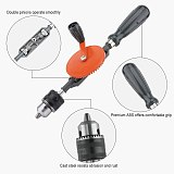 Hand Drill,Powerful 3/8 Inches (1.5-10Mm) Capacity Precision Chucks Cast Steel Double Pinions Manual Drill For Wood Plastic Acry