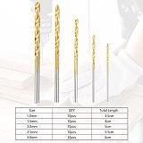 50Pcs Titanium Coated HSS High Speed Steel Drill Bit Set Tool 1mm 1.5mm 2mm 2.5mm 3mm Titanium Drill
