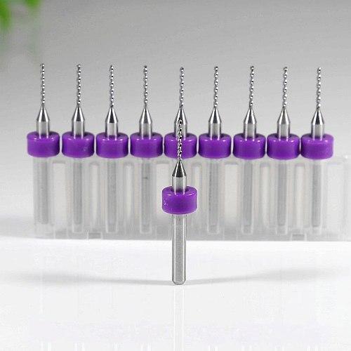 PCB drill bits 0.3-1.2mm, tungsten carbide micro mini drill, 10PCS CNC woodworking tools, drilling glass,Cutters for CNC