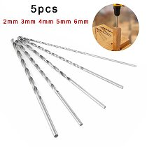5pcs 2/3/4/5/6mm HSS 160mm Extra Long Drill Bits Set Holesaw Hole Saw Cutter Drilling Kit For Wood Metal Drilling