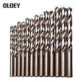 M42 HSS Twist Drill Bit Set 3 Edge Head 8% High Cobalt Drill Bit for Stainless Steel Wood Metal Drilling 25pcs drill set