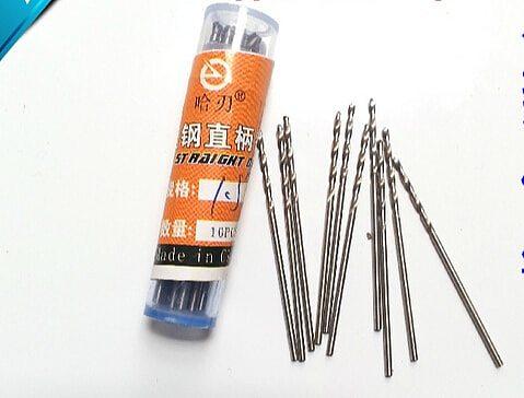 100PCS High Quality HSS straight shank twist drill 0.8mm walnut vajra bodhi Pearl beads punch tiny little bit