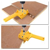 Dowel Jig 6 8 10mm Drill Bits for Wood Hand-held Woodworking Drill Guide ABS Pocket Hole Jig Kit with Box