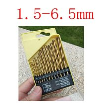 Wholesales 13pcs Professional Quick Change High Speed Steel Titanizing Round Shank Drill Bits Set
