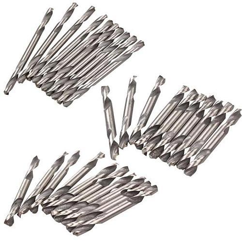 10pcs HSS Drill Bits Set 3.2mm Diameter Practical Double Ended Spiral Drill Bits Twist Drill Tool Set Drill Bit Set for Woodwork