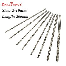 1PC 2mm-10mm Extra Long 200mm Metal Wood Plastic HSS Twist Drill Bit (2/2.5/3/3.5/4/4.5/5/5.5/6/6.5/7/7.5/8/8.5/9/10mm)