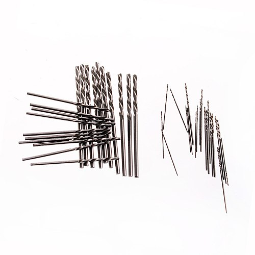 40pcs/set 0.5-2.0mm High Speed Steel HSS Mini Twist Drill Bits Set  Straight Shank for Woodworking Aluminum PCB Plastic