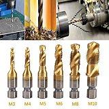 6 M3-M10 Hss auger tap countersunk burr set Metric composite bit Hss high speed steel surface 1/4 quick replacement hexagon