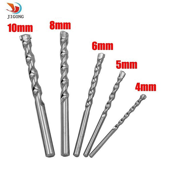 5PCS quality tungsten steel drill impact drill cement concrete wall drill construction drill