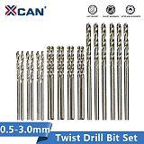 XCAN HSS Twist Drill Bit 25pcs Wood Metal Hole Drilling 0.5mm-3.0mm Gun Drill Bit Woodworking HSS Hole Cutter Mini Drill Bit