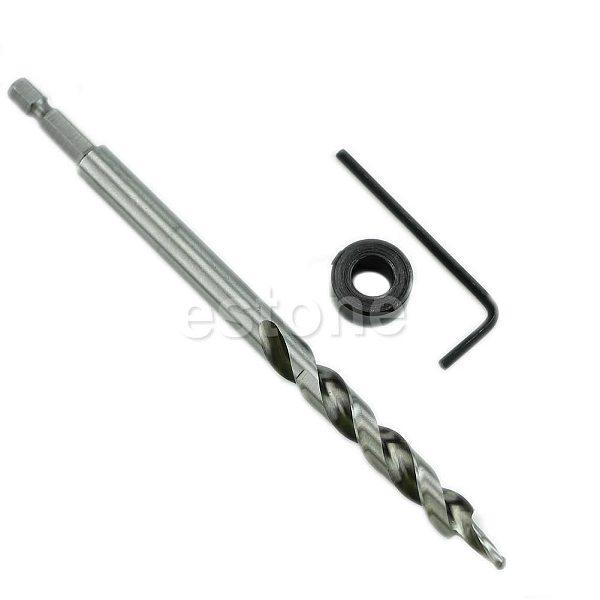 1/4\  Hex Twist Step Drill Bit Set for Kreg Pocket Hole Drill Jig Guide 3/8\  New