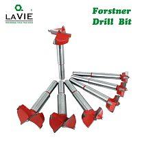 LAVIE 1pc 15mm-60mm Forstner Drill Bit Woodworking Hole Saw Cutter Hinge Boring Bits Round Shank Tungsten Carbide Opener DB03060