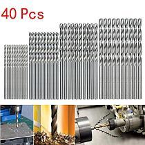40pcs/Set Mini Drill HSS Bit Straight Shank Twist Drill Bits Woodworking Electric brocas drill Tools Accessories 0.5/1/1.5/2mm