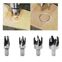 8PCS/set 1/4  3/8  1/2  5/8  Claw Type/ Cylinder Type Carbon Steel Wood Plug Hole Cutter Drill Bit Set 10MM Shank 6/10/13/16 mm