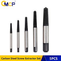 Free Shipping 5pcs Carbon Steel Screw Extractor Drill Bit Set Broken Bolt Extractor Remover Easy Out Damage Screwdriver Set