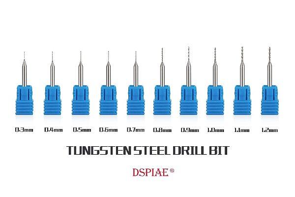 DSPIAE TUNGSTEN STEEL DRILL BIT 0.3~1.2mm