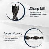 4mm 5mm 6mm 8mm 10mm Quick Change Metal Tools 1/4  Hex Shank Wood HCS 5pcs Rustproof Woodworking Drill Bit Set