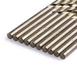 10Pcs/Set 3.2mm M35 Triangle Shank HSS-Co Cobalt Twist Drill Spiral Drill Bit