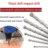 1Pcs Drill Bit Triangle Handle Hand Drill Tungsten Steel Twist Concrete Cement Punch Drill Bit For Electrician Tool 6-12mm