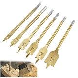 6Pcs 10-25mm Woodworking Drill Bits Hexagonal Shank Wood Drilling Tool Flat Drill High-carbon Steel Wood Flat Drill Set Titanium