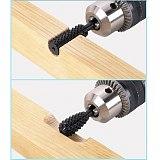 HOEN 5pcs/set Dremel Shank Burs Tools Cutting Tool Black High Speed Steel Burr Drill Bit Set Wood Carving Rasps For