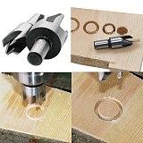Hot  Wood Plug Cutter Cutting Tool Woodwork Plug Cutting Drill Bit Set 4pcs 5/8 1/2 3/8 1/4 Claw Cork Drill