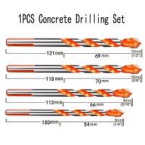 1PCS Ceramic Tile Drill Bits ,Masonry Drill Bits Set for Glass, Brick, Tile, Concrete, Plastic and Wood Tungsten Carbide Tip