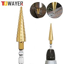 3-13mm HSS Titanium Coated Stepped Drill Power Tools Carbide Drill High Speed Steel Mini Drill Bit Drill Bit Set