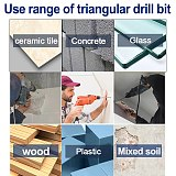 6mm 8mm 10mm 12mm Tile Glass Brick Wall Wood Hole Opener Multi-purpose Carbide Material Red Triangle Handle Wall Drill