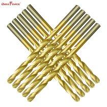 Drillforce Tools M2 Titanium Drill Bits Set, HSS DIN338 Drill Set 1.0-13MM, for Drilling on Metal, Aluminum, Copper, Zinc Alloy