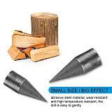 Drill Bit Firewood Machine Drill High hardness,toughness Wood Cone Reamer Punch Drill Rear Groove Anti-skid Design Bit 4 Sizes