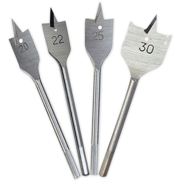 Long High-carbon Steel Wood Flat Drill Set 6-30mm Flat Drill Woodworking Spade Drill Bits Durable Woodworking Tool Sets