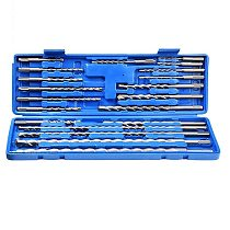 20pcs Electric Hammer Drill Bit Set Sds chisel Plastic Box Shank Impact Rotary Concrete Masonry Drilling Grooving New