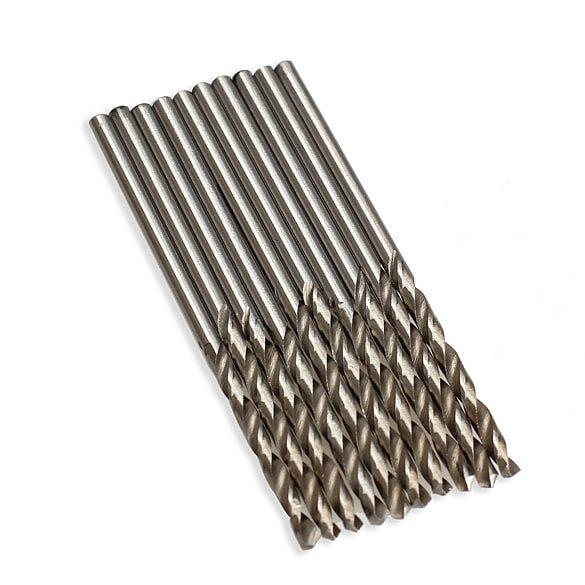 10PCS/Set HSS Twist Drill Bit 2.5mm/3mm/3.5mm Micro HSS Twist Drilling Auger Bit for Electrical Drill Woodworking Power Tool