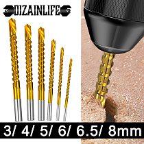 6pcs/set Cobalt Drill Bit Set Spiral Screw Metric Composite Tap Twist Drill Bit Set Multi-function Metal Special Tap Drill Bit