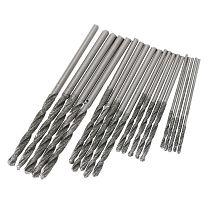 20Pcs 1mm 1.5mm 2mm 2.5mm Diamond Coated Twist Drill Bits Set For Glass Soft Metal Tile Stone
