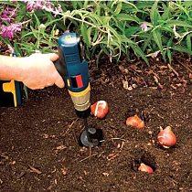 Garden Planter Bulb Auger Drill Bit Planting Hole Digger Auger Spiral Drill Bit Bulb Auger Hand Digger Rust-Proof Rapid Planter