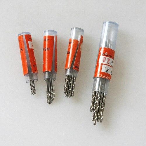 Fixmee 40pcs Mini Drill HSS Bit 0.5mm-2.0mm Straight Shank PCB Twist Drill Bits Set Hot