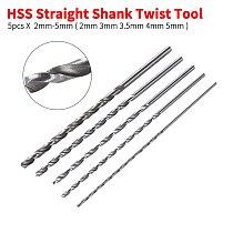 2mm 3mm 3.5mm 4mm 5mm 5pcs Extra Long 150mm HSS Twist Drill Straigth Shank Auger Wood Metal Drilling Tools Drill Bit