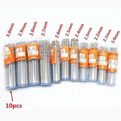 HSS Micro Twist Drill bit 0.3-3.0mm High Speed Steel PCB Mini Drill Jewelry Tools Dremel Bit