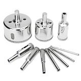 10pcs 3-50mm Diamond Drill Bit Set for Glass Ceramic Tile Marble Hole Saw Drilling Opener Electric Drilling Tool Accessories