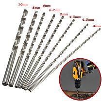 1pcs HSS 200mm Straight Shank Round Twist Drill Bit for Metal Power Tools 4-10mm